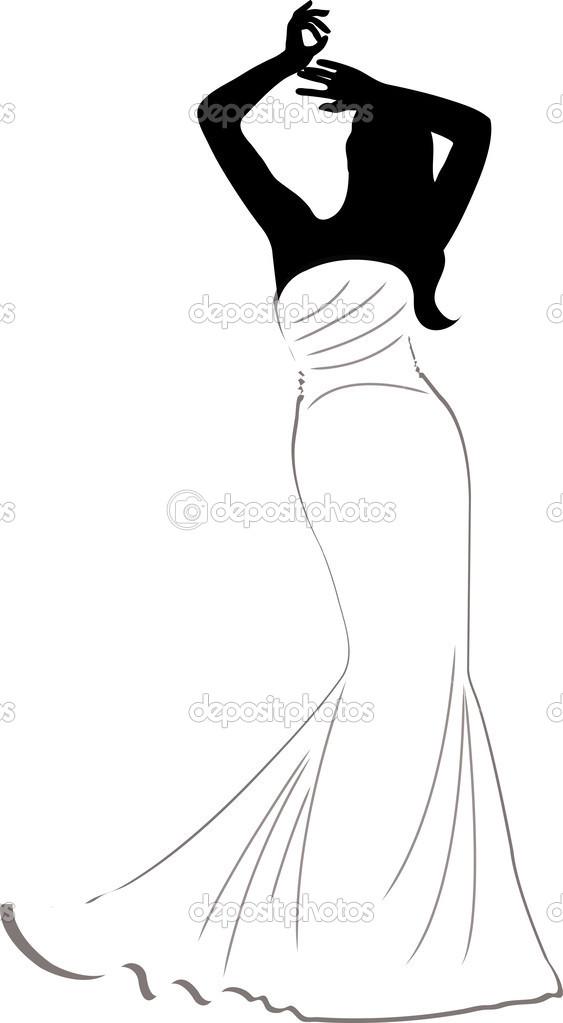 Mermaid Wedding Dresses Clip Art