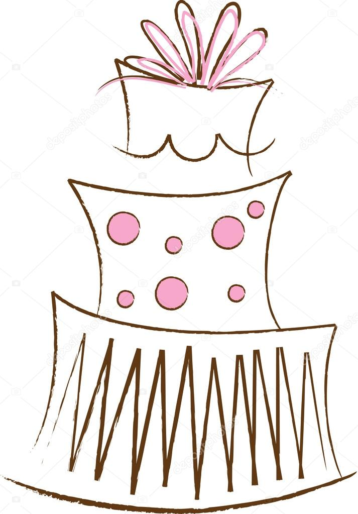 Clipart Illustration Of A Stylized Pink And Brown Layer