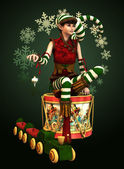 Fotografie Santas Little Helper Katie, 3d CG