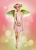 kis angyal 3D-s cg