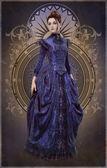 lila belle epoque ruha, 3D-s cg