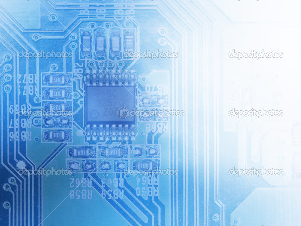 Microchip Background Close Up Of Electronic Circuit Board With Integrated Stock Photo Closeup Processor
