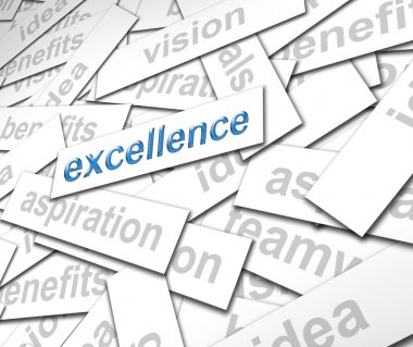 Excellence paper sign - finance concept