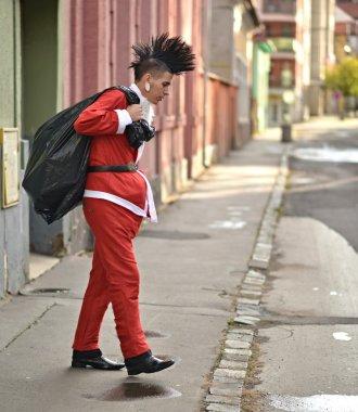 Bad Santa in Punk Style