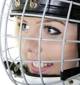 Photo Woman hockey player