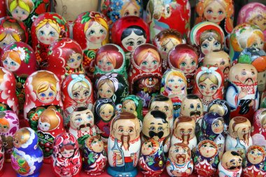 Beautiful colored dolls