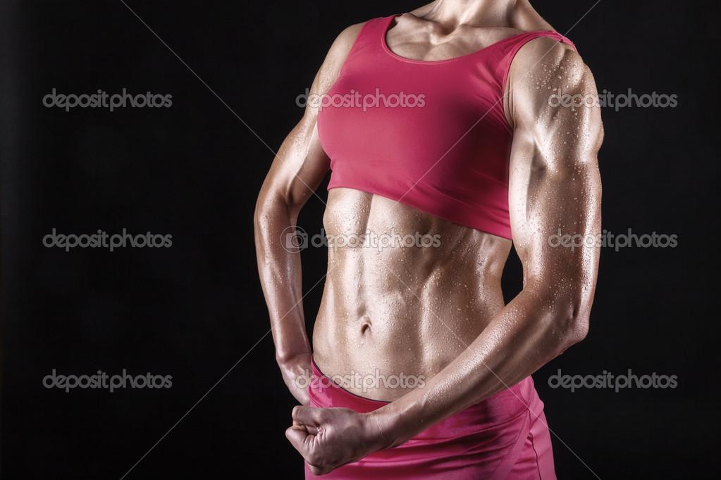 músculos abdominales — Foto de stock © artem_furman #26013101