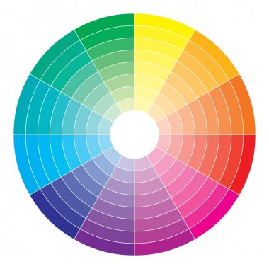 Color spectrum abstract wheel, colorful diagram background