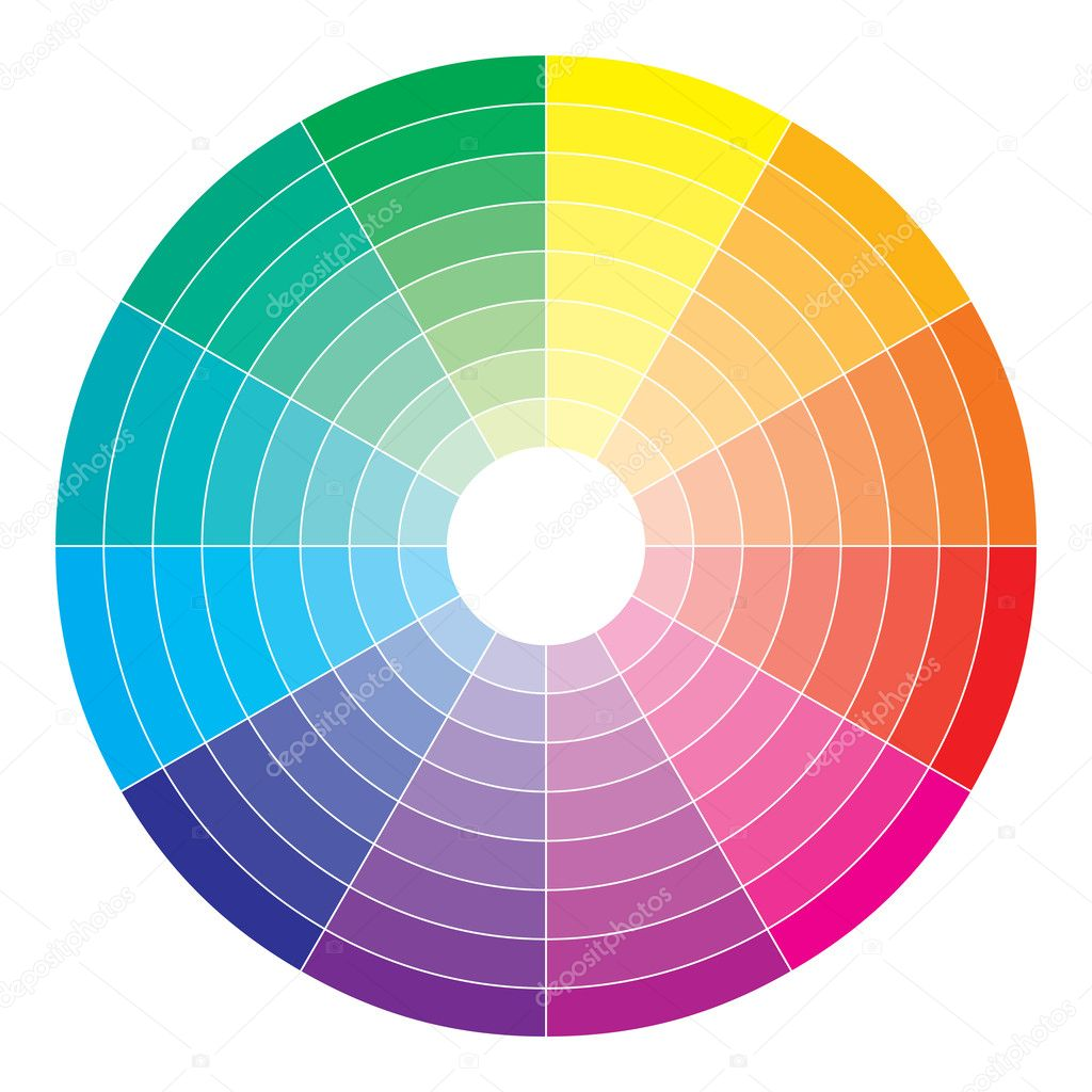 Color Spectrum Abstract Wheel Colorful Diagram Background Stock Vector 26291795