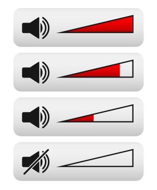 Volume control, Digital Volume knobs. adjust opacity mask to set volume level clip art vector