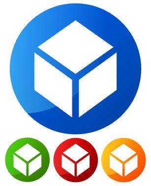 Box design element, icon. Box symbol