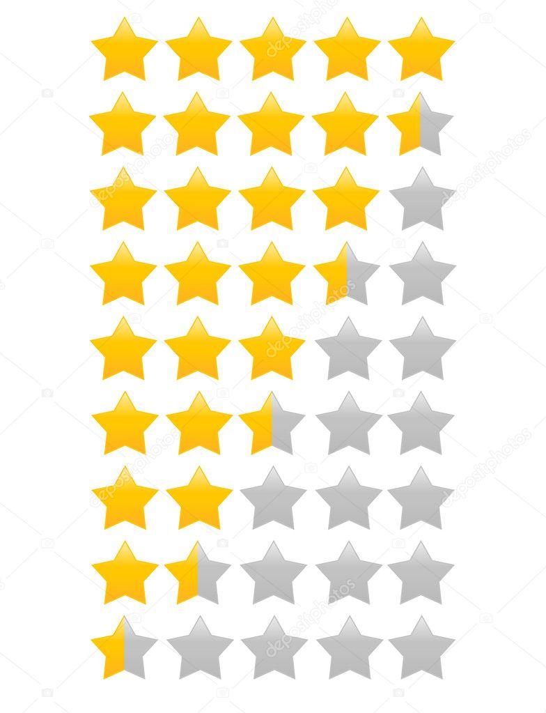Yellow star(s) vector illustration - single star icon, star rating vector illustration