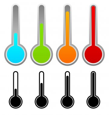 Thermometers clip art vector