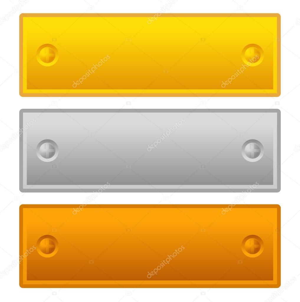 leere Tafel, Tafel-Vorlagen — Stockvektor © vectorguy #51019217