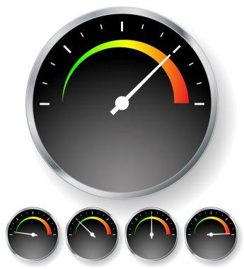 General dial. Gauge, metering vector