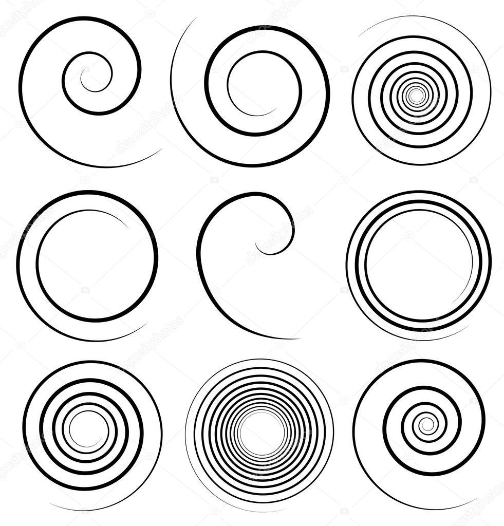 Simple spiral profile set stock vector vectorguy 51194419 for Illustration minimaliste