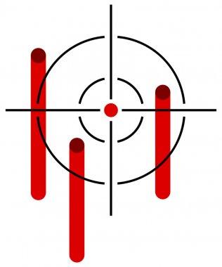 Reticle with bleeding hits stock vector