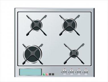 Kitchen stove hob