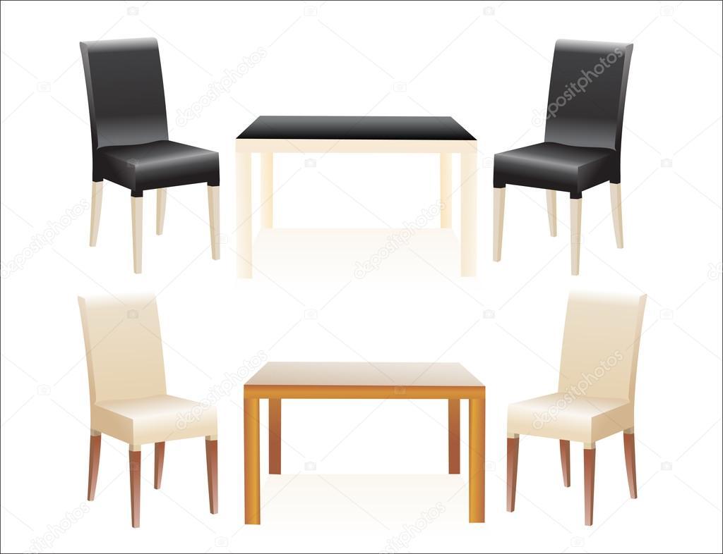 Hoge Eettafel Met Stoelen.Hoge Tafel W Stoelen Op Witte Achtergrond Stockvector C Mitay20