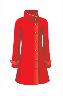 Women coat stock vector