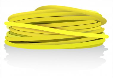 Yellow coaxial cable