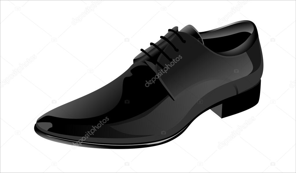 Elegant Shiny Black Dress Shoes Stock Vector Mitay20 14476479