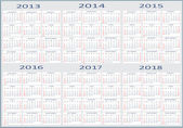 Fotografie základní kalendář, 2013, 2014, 2015, 2016, 2017, 2018