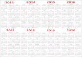Fotografie Nový rok 2013, 2014, 2015, 2016, 2017, 2018, 2019, 2020 kalendáře