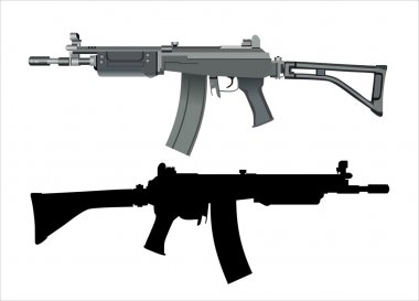 Machine gun isolated on the white background