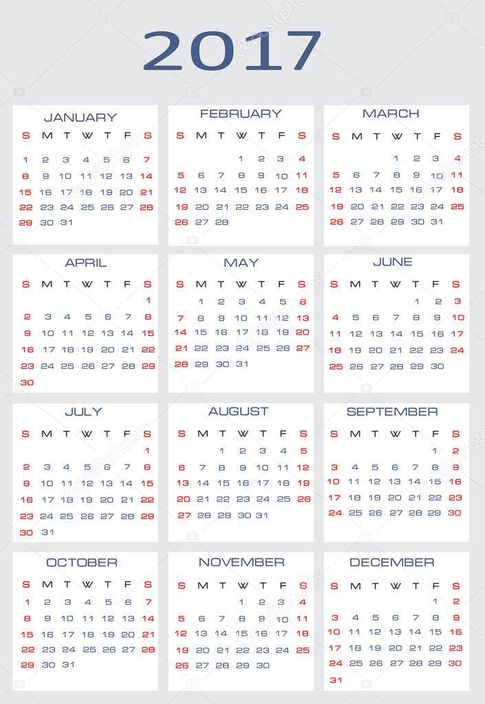 Illustration For Calendar : Vector calendar for — stock mitay