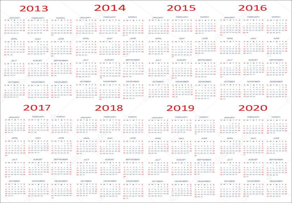 calendars 2018 2019 2020 calendar template 2017