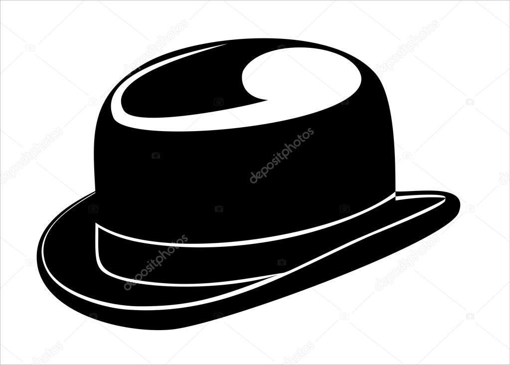 fea18b9762e A black bowler hat on a white background — Stock Vector © mitay20 ...