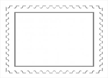 Vector blank postage stamps isolated background.