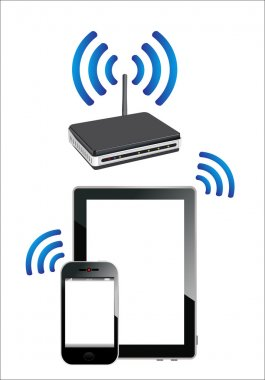 Home wifi network. Internet via router on phone and tablet pc.