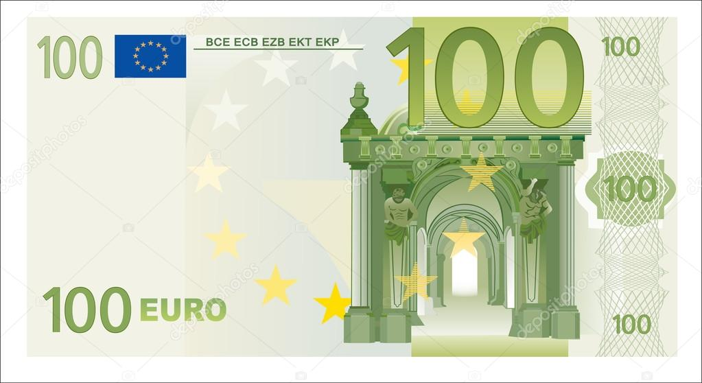 100 euro stock vector mitay20 24897269 for Canape a 100 euros