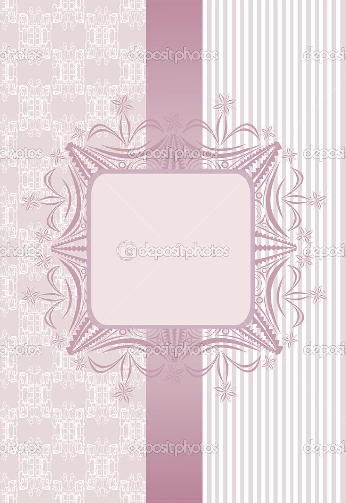 Vintage papel pintado transparente con una cinta y un marco de ...
