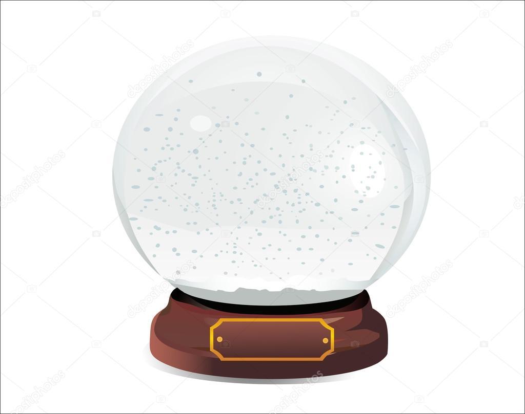 empty snow dome stock vector mitay20 33568951. Black Bedroom Furniture Sets. Home Design Ideas