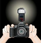 Foto fotoaparát v ruce