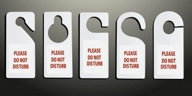 Hotel do not disturb door hanger