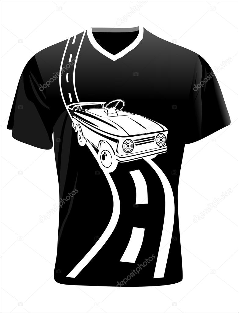 Graphic T Shirt Design Car Stock Vector Mitay20 38623703