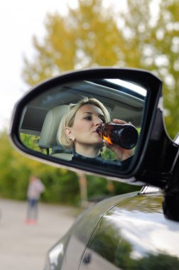 Drunk woman about to cause an accident