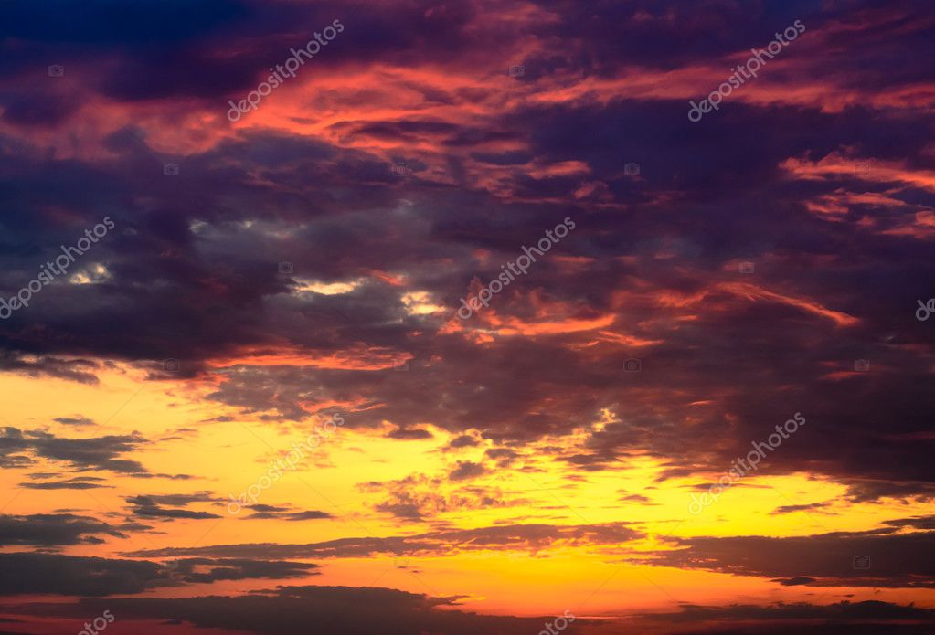 Beautiful fiery orange and purple sunsetBeautiful fiery orange and purple sunset