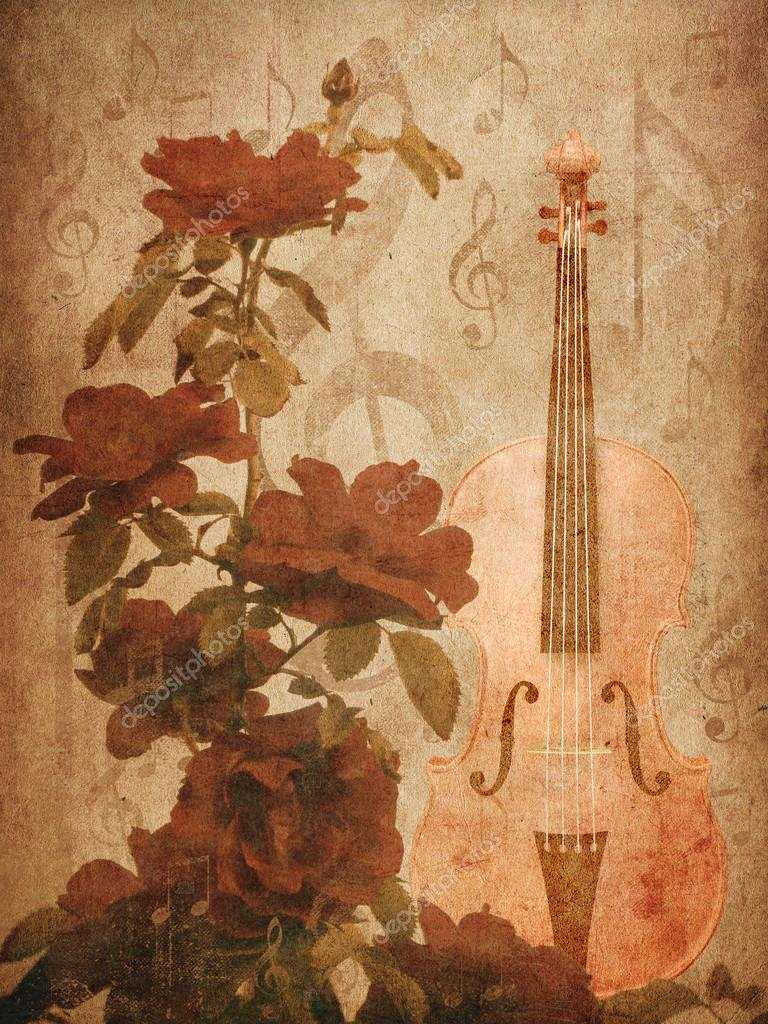 Roses and violin