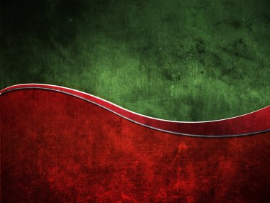 Old red and green background