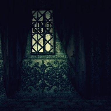 Hounted house interior