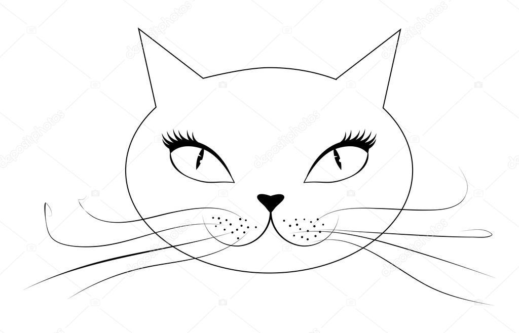 Dibujos: dibujo cara de gato | cara de gato de dibujos animados ...