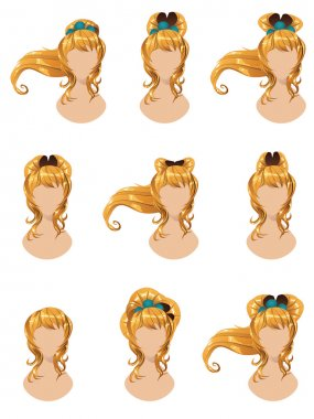 Yellow hair in different styles