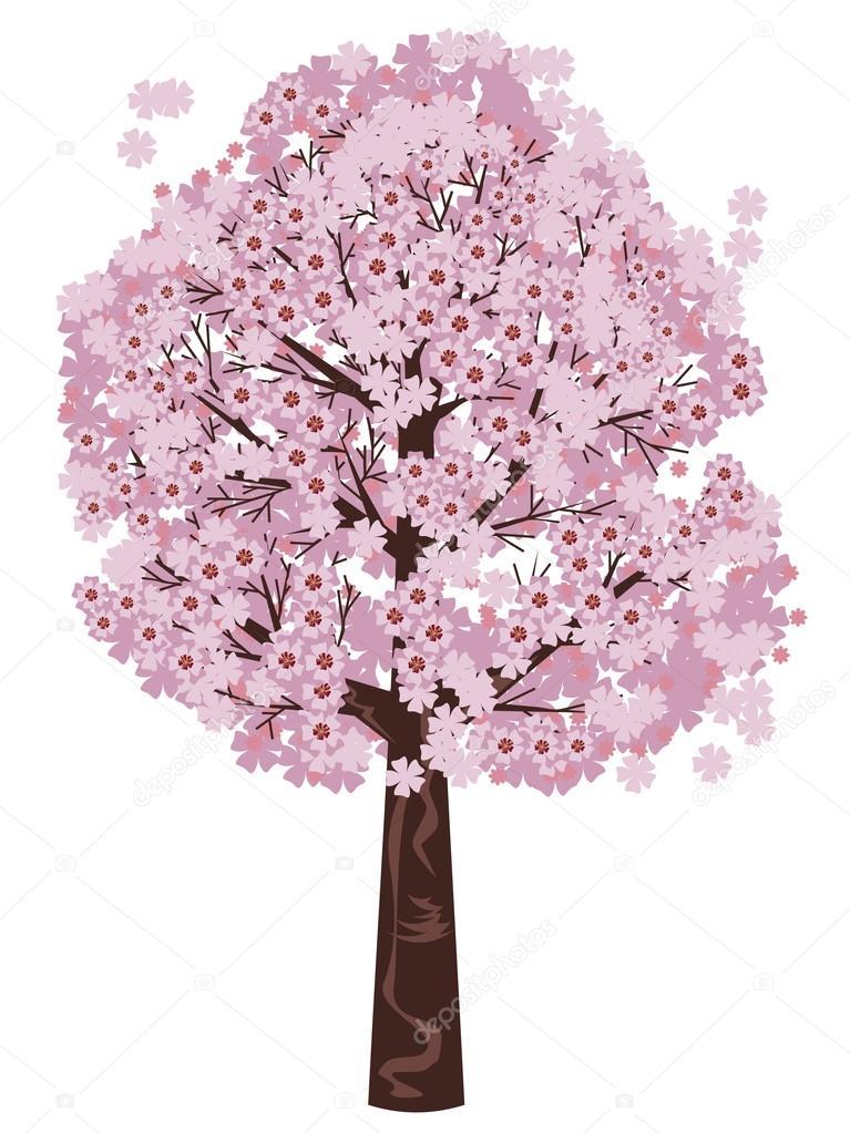 Sakura Baum Kaufen : bl hende sakura baum stockvektor artshock 43868225 ~ Frokenaadalensverden.com Haus und Dekorationen