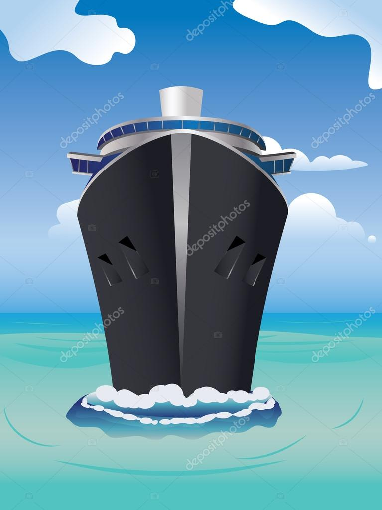 Cruise Liner in the Sea