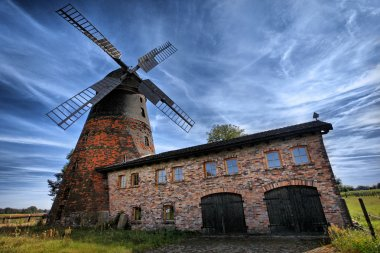 Traditional old windmill in Germany